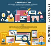 internet marketing set of... | Shutterstock .eps vector #1035376711