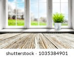 table background in kitchen and ... | Shutterstock . vector #1035384901