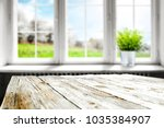 table background in kitchen and ... | Shutterstock . vector #1035384907
