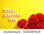 mothers day background with... | Shutterstock . vector #1035387025