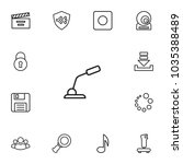 set of 13 media icons line...   Shutterstock .eps vector #1035388489
