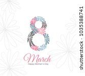 happy women's day card | Shutterstock .eps vector #1035388741