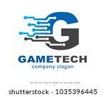letter g logo template design... | Shutterstock .eps vector #1035396445