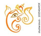 hindu god lord ganesha.... | Shutterstock .eps vector #1035404959