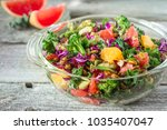 citrus  cabbage and kale... | Shutterstock . vector #1035407047
