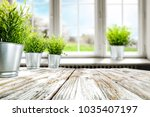 blurred background of window... | Shutterstock . vector #1035407197