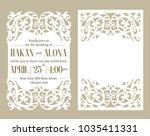 luxury invite card. laser... | Shutterstock .eps vector #1035411331