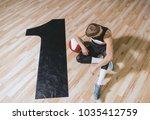 overhead horizontal shot of... | Shutterstock . vector #1035412759