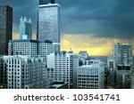 chicago illinois downtown... | Shutterstock . vector #103541741