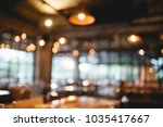 blurred photo of coffee shop or ... | Shutterstock . vector #1035417667
