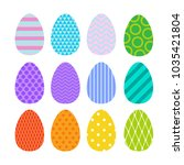 happy easter holiday. set of... | Shutterstock .eps vector #1035421804