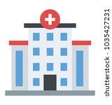 hospital building flat building ... | Shutterstock .eps vector #1035427231