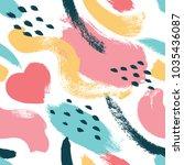 hand drawn dry brush strokes... | Shutterstock .eps vector #1035436087