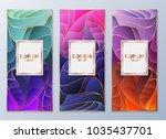design templates for flyers ... | Shutterstock .eps vector #1035437701