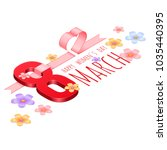 vector logo march 8 isometric ... | Shutterstock .eps vector #1035440395