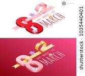 vector logo march 8 isometric ... | Shutterstock .eps vector #1035440401