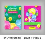 banner  spring sale discount ... | Shutterstock .eps vector #1035444811