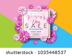 womens day sale background... | Shutterstock .eps vector #1035448537