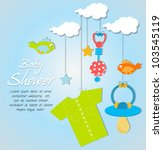 baby shower card | Shutterstock .eps vector #103545119