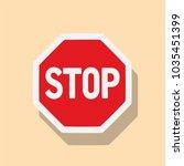 stop sign  vector illustration... | Shutterstock .eps vector #1035451399