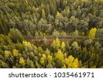 aerial view of an ampty road... | Shutterstock . vector #1035461971
