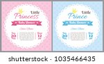 set of baby shower invitation... | Shutterstock .eps vector #1035466435
