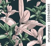 beautiful seamless vector... | Shutterstock .eps vector #1035468445