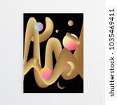 minimal cover design. fluid... | Shutterstock .eps vector #1035469411