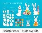 happy easter creator  funny... | Shutterstock .eps vector #1035469735