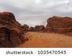 view of vadi rum desert. jordan   Shutterstock . vector #1035470545