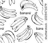 banana seamless vector... | Shutterstock .eps vector #1035471079