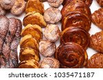 assortment of french pastries.... | Shutterstock . vector #1035471187