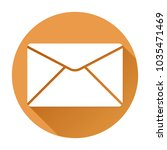 envelope or mail icon. orange... | Shutterstock .eps vector #1035471469