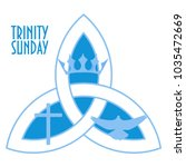 trinity sunday is the first... | Shutterstock .eps vector #1035472669
