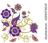 paisley pattern. ornate...   Shutterstock .eps vector #1035474019