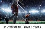 soccer game moment  on...   Shutterstock . vector #1035474061