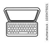 laptop computer icon  | Shutterstock .eps vector #1035475021