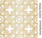 arabic seamless pattern with 3d ...   Shutterstock .eps vector #1035475954