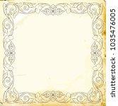 retro baroque decorations... | Shutterstock .eps vector #1035476005