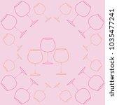 wineglass  pattern . hand drawn. | Shutterstock .eps vector #1035477241