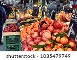 nashmarkt in vienna  grocieries | Shutterstock . vector #1035479749