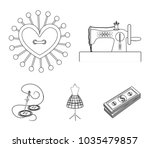 needle and thread  sewing... | Shutterstock .eps vector #1035479857