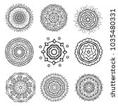 hand drawn vector ornaments in... | Shutterstock .eps vector #1035480331