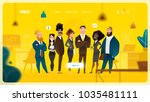 main page web design with... | Shutterstock .eps vector #1035481111