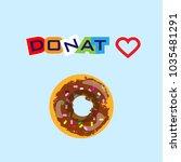 delicious donut for dessert   Shutterstock .eps vector #1035481291