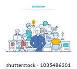 brainstorm  big ideas ... | Shutterstock .eps vector #1035486301