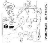 illustration of athlete in... | Shutterstock .eps vector #1035486847
