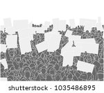 illustration of large crowd of... | Shutterstock .eps vector #1035486895