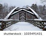 Arch bridge across Snake River in Chengwatana State Forest, Minnesota