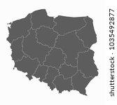 gray map poland map. each city...   Shutterstock .eps vector #1035492877